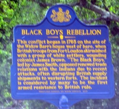 Black Boys Rebellion Marker image. Click for full size.