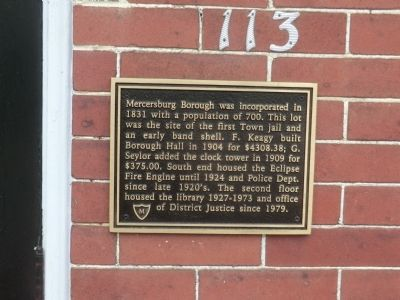 Mercersburg Borough Marker image. Click for full size.