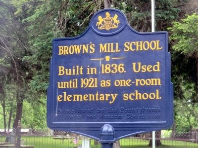 Brown's Mill School Marker image. Click for full size.