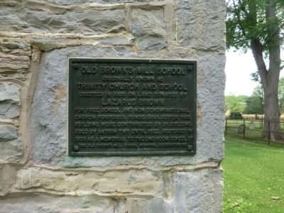 Old Brown's Mill School Marker image. Click for full size.