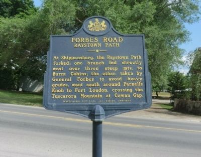 Forbes Road - Raystown Path Marker image. Click for full size.