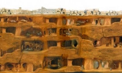 Diorama of Underground City Life image. Click for full size.