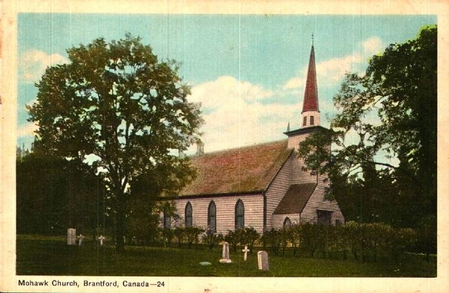 <i>Mohawk Chapel, Brantford, Canada</i> image. Click for full size.