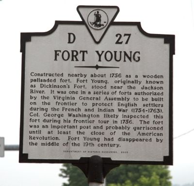 Fort Young Marker image. Click for full size.