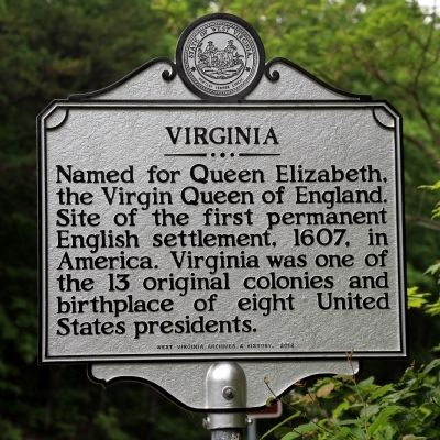 Virginia Face of Marker image. Click for full size.