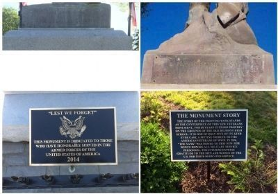 WW II Monument plaques and inscriptions. image. Click for full size.