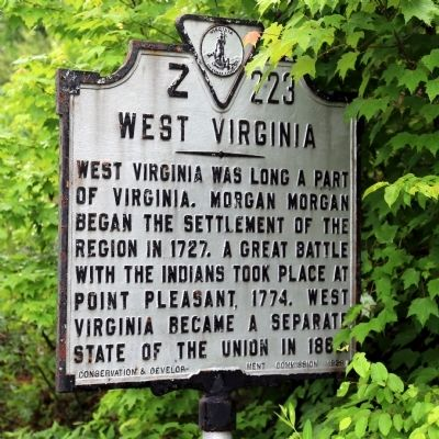 West Virginia Face of Marker image, Touch for more information