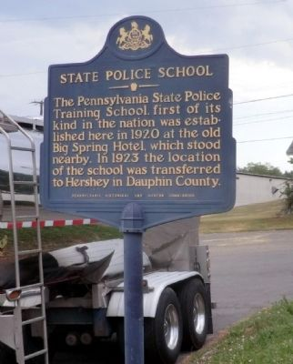 State Police School Marker image. Click for full size.