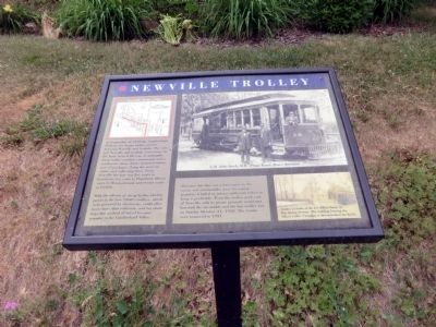 Newville Trolley Marker image. Click for full size.