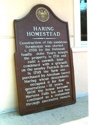 Haring Homestead Marker image. Click for full size.