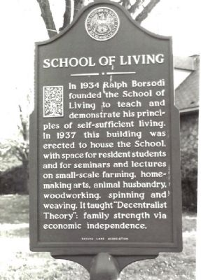 School of Living Marker image. Click for full size.