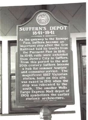 Suffern's Depot, 1841-1941 Marker image. Click for full size.