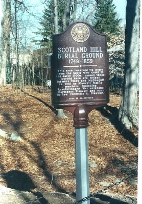 Scotland Hill Burial Ground 1749-1859 Marker image. Click for full size.