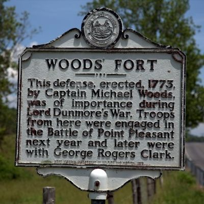 Woods' Fort Marker image. Click for full size.