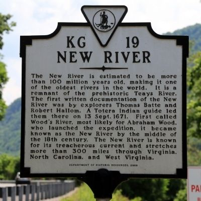 New River Marker image. Click for full size.