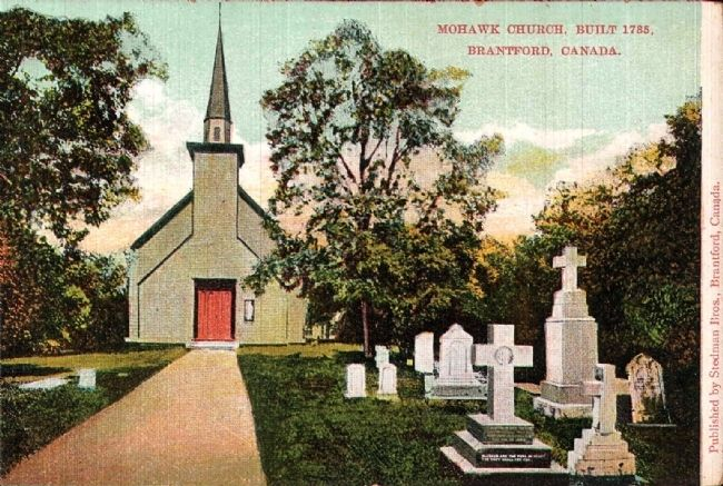 <i>Mohawk Church, Built 1785. Brantford, Canada. image. Click for full size.