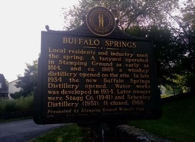 Buffalo Springs Marker [reverse] image. Click for full size.