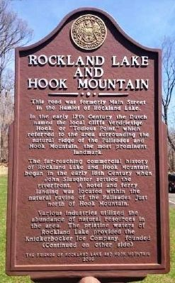Rockland Lake and Hook Mountain Marker image. Click for full size.