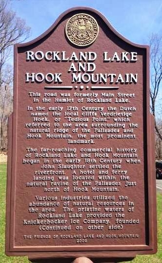Rockland Lake and Hook Mountain Marker