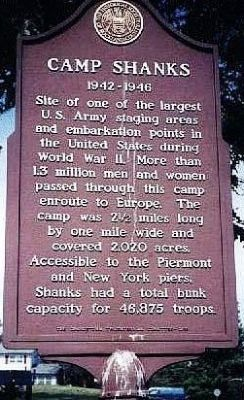 Camp Shanks Marker image. Click for full size.