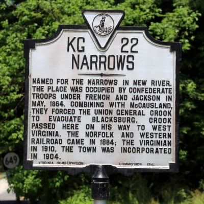 Narrows Marker image. Click for full size.