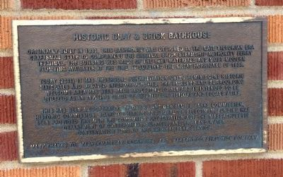 Historic clay & brick bathhouse Marker image. Click for full size.