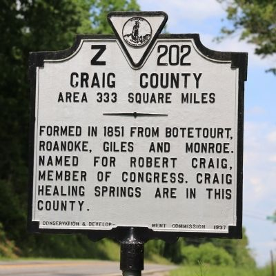 Craig County Face of Marker image. Click for full size.