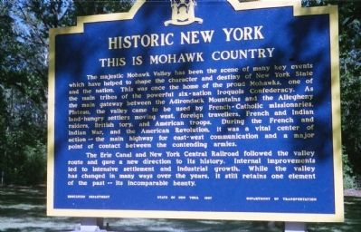 This Is Mohawk Country Marker image. Click for full size.