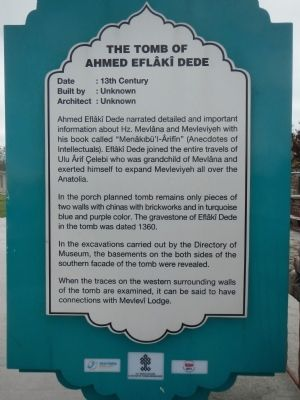 The Tomb of Ahmed Eflâkî Dede Marker image. Click for full size.