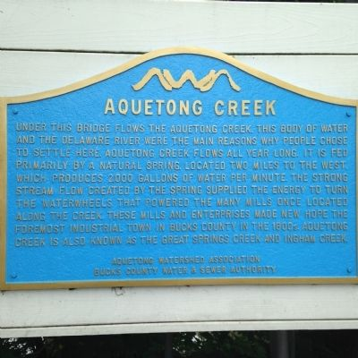 Aquetong Creek Marker image. Click for full size.