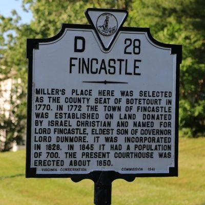 Fincastle Marker image. Click for full size.