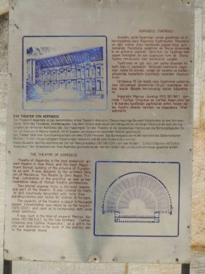 The Theatre of Aspendos Marker image. Click for full size.