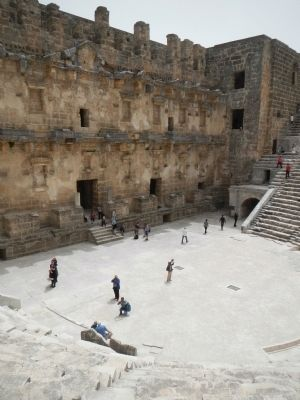 The Theatre of Aspendos, stage building image. Click for full size.