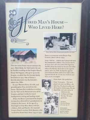 Hired Man's House – Who Lived Here? Marker image. Click for full size.