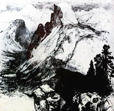 Thomas Moran etching , 1887 image. Click for full size.