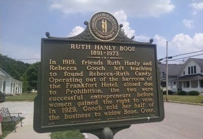 Ruth Hanly Booe 1891-1973 Marker [front] image. Click for full size.