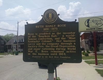 Ruth Hanly Booe 1891-1973 Marker [reverse] image. Click for full size.
