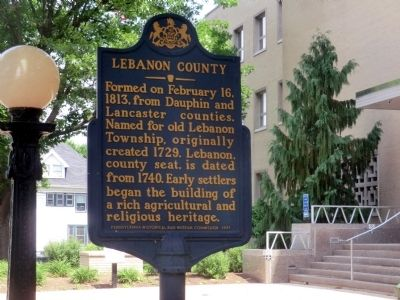 Lebanon County Marker image. Click for full size.