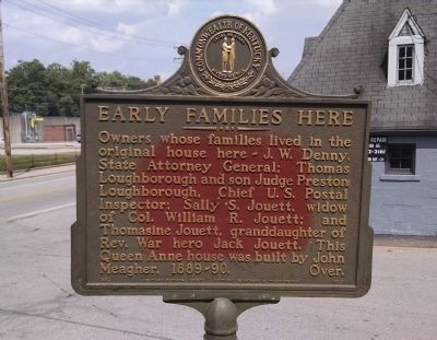 Early Families Here Marker [front] image. Click for full size.