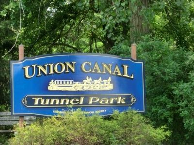 Sign in Union Canal Tunnel Park image. Click for full size.