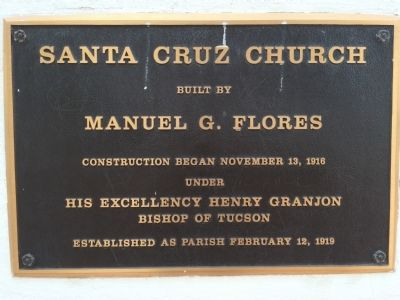 Santa Cruz Church Marker image. Click for full size.