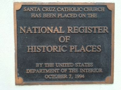 Additional Santa Cruz Church Marker image. Click for full size.