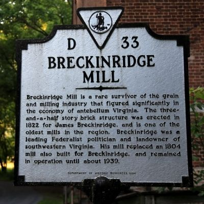 Breckinridge Mill Marker image. Click for full size.
