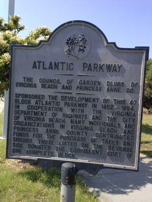 Atlantic Parkway Marker image. Click for full size.
