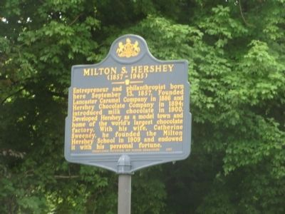 Milton S. Hershey (1857-1945) Marker image. Click for full size.