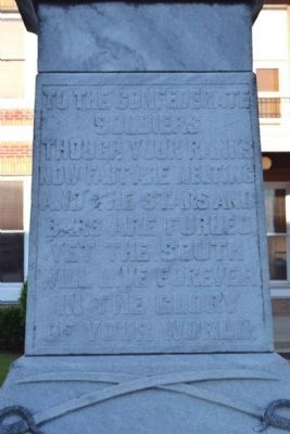 Inscription on Front Face of Monument image. Click for full size.