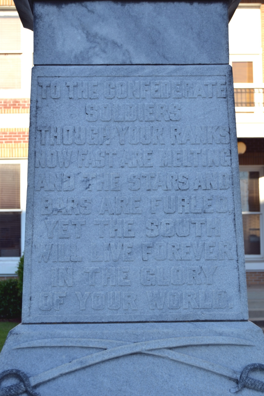 Inscription on Front Face of Monument