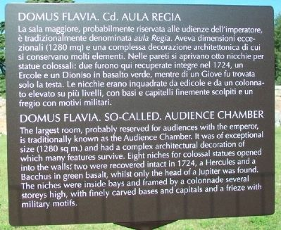 Domus Flavia. So-called. Audience Chamber Marker image. Click for full size.