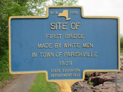 Site Of First Bridge Marker image. Click for full size.