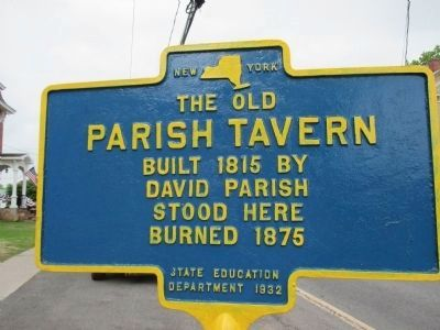 Parish Tavern Marker image. Click for full size.